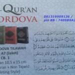 Al-Qur'an Tilawah / Non Terjemah Cordova A6 Resleting