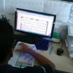 Proses pemeriksaan huruf-huruf Al-qur'an