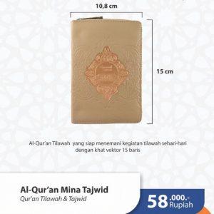 Al Quran Tajwid Tilawah atau Non Terjemah Syaamil MINA A6 Resleting